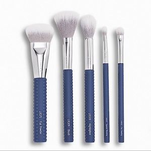 Laruce Beauty 5 Pc Brush Set, Denim Color